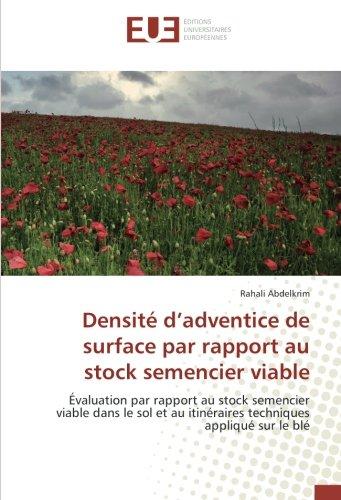 Densité d'adventice de surface par rapport au stock semencier viable