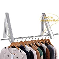 Wall Hanger, Wall Coat Hanger, Wall Hangers for Clothes Coat, Folding Wall Mounted Coat Hanger Racks, Aluminum Wardrobe Hooks for Bedroom Bathroom Balcony Laundry