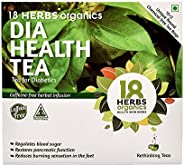 18 HERBS ORGANICS HEALTH WITH HERBS Dia Health Tea - Anti Diabetic Tea, Caffeine Free, Chemical Free Tea Bags
