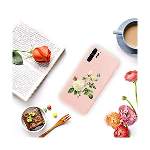 Oihxse Compatible with Huawei P20 Case Cover with Design, Soft TPU Back Shell [Anti-Slip] [Anti-Fade] [Support Wireless Charging] Slim Fit Pink Matte Texture Protective Bumper Skin-White Rsse Oihxse 🦜【Ultra-Thin & Slim Fit】Ultra-Slim design snugly fit for your Huawei P20 to bring [Sleek Look], [Stylish Charming] and [Great in-hand Feeling] due to the process with matte finish compliment with fashion pattern on the mobile phone case back-pink colour. 🦜【Support Wireless Charge】With precision cutouts of the Huawei P20, you can easy access to headphone jack, charger port, key mute, speakers, audio ports and buttons without the interference of [WiFi Reception], [Signal Reception], [Wireless Charging Performance], etc. 🦜【Anti-Fingerprint & Non-Fade Material】Crafted with soft anti-yellowing and non-fade TPU material with red frosted finish to provide you fingerprint resistant, anti-slip, daily scratches, bumps, drops and other daily damages. 6