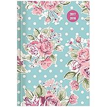 Collegetimer Roses 2017/2018 - Schülerkalender A5 - Day By Day - 352 Seiten
