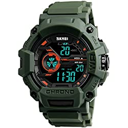 Skmei Multifunction Chronograph Military Blue Digital Sports Watch For Men (Green)