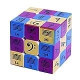 RUIGIN velocità di Puzzle del cubo 3x3x3 UV Stampa Note Musicali Stickerless 3-Order di velocità Cubo di Rubik per Brain Training