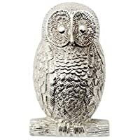 Nickel Owl Door Knocker