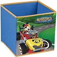Disney Mickey Roadster Racers - Cubo Contenedor plegable pongotodo guarda juguetes