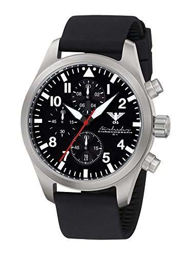KHS Mens Watch Analogue Quartz with Silicone Wrist Band KHS.AIRSC.SB