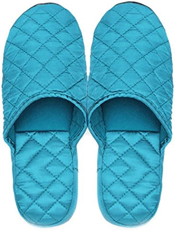 SHANGXIAN Damas de primavera y el otoño de raso de madera piso zapatillas, light blue, 39-40
