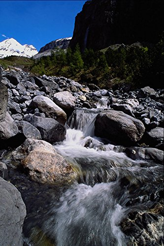 439045 A Mountain Stream Near Kandersteg Village A4 Photo Poster Print 10x8