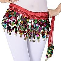 LaoZanA Mujer Profesionales de Danza del Vientre Danza del Vientre Baile Hip bufanda falda cinturón