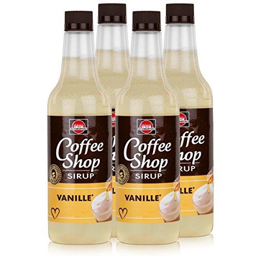 Schwartau Coffee Shop Sirup Vanille 650ml - Verfeinert ihren Kaffee (4er Pack)