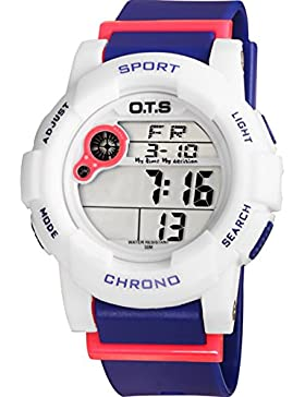 Electronic watch wasserdicht night light alarm multi-funktion outdoor sports-D