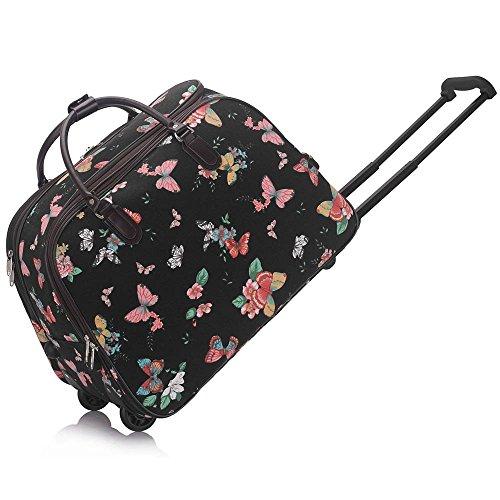 luggage-ladies-travel-holdall-bags-hand-luggage-womens-polka-dot-weekend-wheeled-trolley-handbag-han