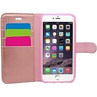 Samrick Etui Portefeuille en Cuir pour iPhone 6 Plus/6S Plus Or rose