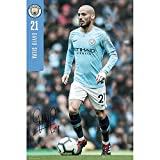 Official Licensed Manchester City F.C - Poster (David Silva