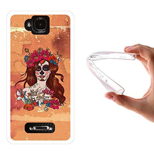, WoowCase Handyhülle Silikon für [ MEO Smart A35 ] Halloween Schädel Handytasche Handy Cover Case Schutzhülle Flexible TPU - Transparent (Meo Den Halloween)