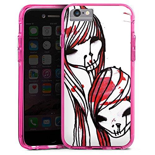 Apple iPhone 8 Bumper Hülle Bumper Case Glitzer Hülle Deadhoxtongirls Gloria Bloody Bumper Case transparent pink