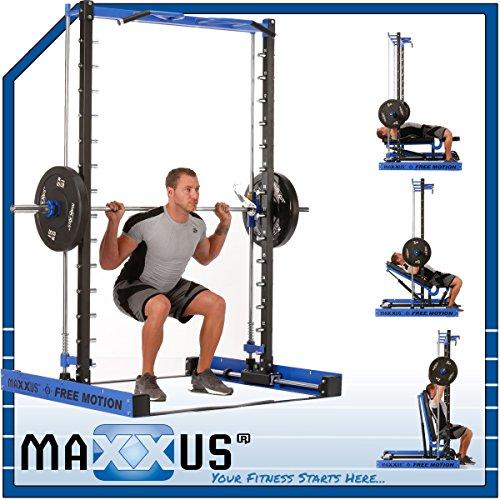 MAXXUS Multipresse FREE MOTION - Horizontal und vertikal bewegliche Multipresse mit Klimmzug
