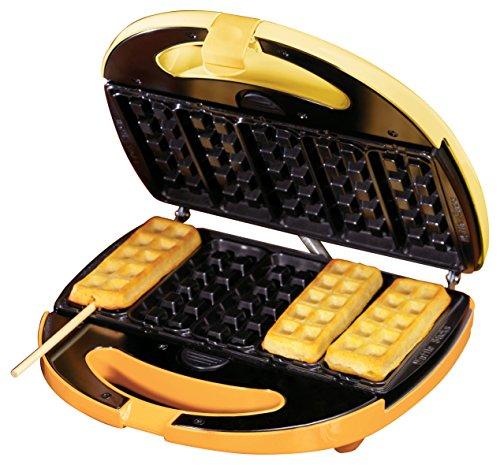 Simeo FC 640 Waffel-Maker, 5 kleine Waffeln am Stiel mit Geschenkbox