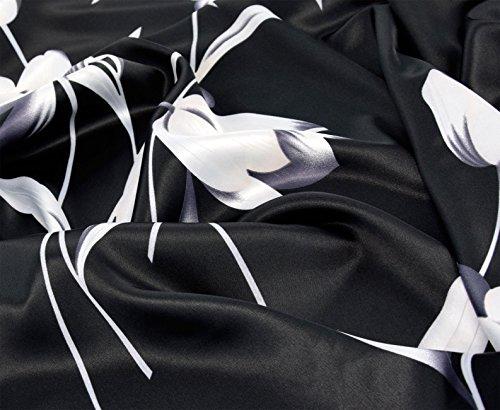 Kimono per donna tipo Boubou, abito da casa maniche a farfalla, vestaglia elegante Bianco