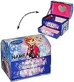 Unbekannt Schmuckkasten - mit Schubladen + Spiegel -  Disney die Eiskönigin - Frozen  - incl. Name - Mädchen - z.B. für Schmuck - Schmuckbox Schmuckkästchen / Schmuck..