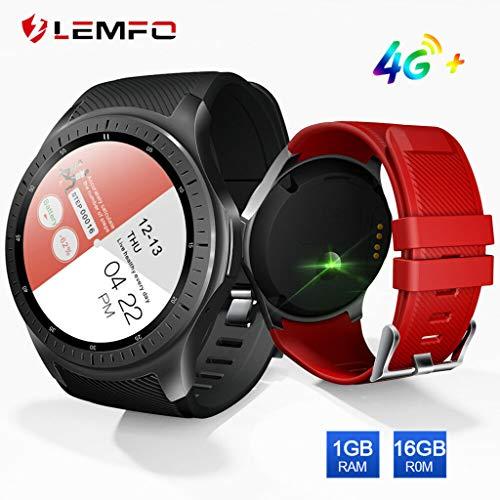 BZLine Mode Smartwatch, LEMFO LF25 Smart Uhr männer Android 7.1 4G unabhängige Uhr Telefon MTK6739 1 GB + 16 GB 600 Mah Batterie Herz Rate Monitor Smartwatch