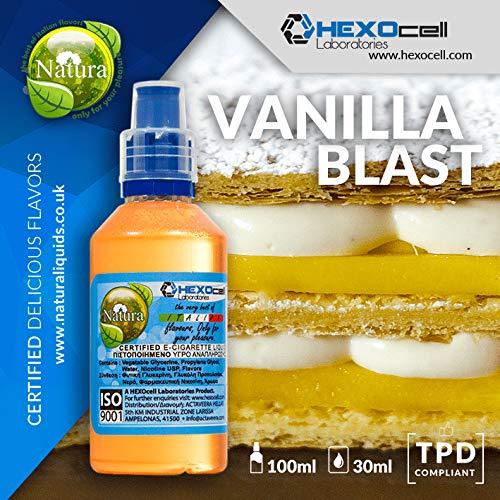 Vanilla Blast (DAMPF SHOP - 30ml Shake and Vape E Liquid ohne Nikotin - Vanilla Blast (Dunkle und reiche mexikanische Vanille) - E Zigarette Liquid)