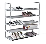Iseaa Etagere a Chaussures 5 Couches 20 Paires de Chaussures Etagere Armoire 86x28x89 cm