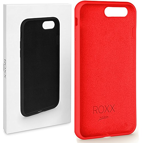 ROXX Apple iPhone 7/8 Hard Case Silikon Hülle | Wie das Original nur Besser | Testsieger | iPhone 7 Hülle Rot | iPhone 8 Hülle Rot