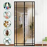 Mosquitera Puerta Magnetica, NASUM Mosquitera Magnética Cortina Magnética para Puertas de Salón, Balcón, Corredor