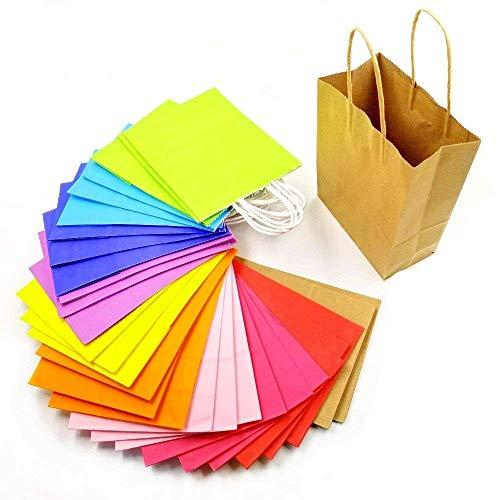 JZK 30 Piezas Bolsas Papel Kraft Multicolor Con Asas