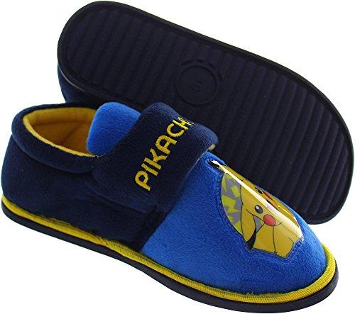 Pokmon-Pokemon-Beal-Zapatillas-de-estar-Por-casa-de-Lona-Para-Nio-Azul-Azul