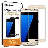 Samsung Galaxy S7 Vollbildschirm Schutz aus gehärtetem Panzerglas, 9H Härte und Anti-Fingerabdruck Oleophobic Beschichtung - Gold