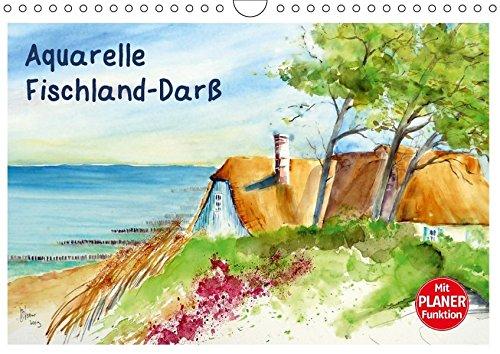 Aquarelle - Fischland-Darß (Wandkalender 2018 DIN A4 quer): Aquarellbilder von der Ostsee auf...