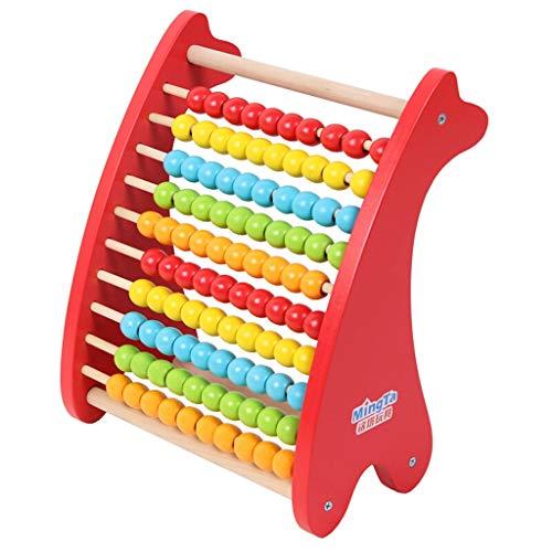 Zhijie-wanju Deer Bunte Digital-Computing-Rahmen Lernspielzeug Holz Kinder zehn Arithmetik Arithmetik Perle Rack Kindergarten Frühe Bildung Lehrmittel Spielzeug 8.3x4x9.4inch Perlen-rack