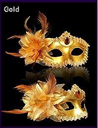 Máscara Venecia Metallic venizia Fasching Máscara Facial o decoración, dorado