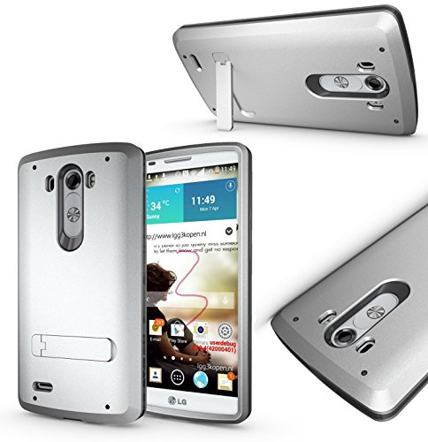Magic Global Gadgets-Box und Gorilla Fall, silber, LG G3 (D855/D851)