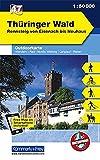 K+F Deutschland Outdoorkarte 47 Thüringer Wald 1 : 50.000: Rennsteig von Eisenach bis Neuhaus. Wanderwege, Radwanderwege, Nordic Walking (Kümmerly+Frey Outdoorkarten Deutschland) -