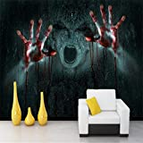 Lqwx Realistische vampir Horror 3d Skull Rock papel de Parede 3D Photo Papier für Wandplakate TV Hintergrund Wandbild Tapeten für Wände 3 d-400 cmX280 cm