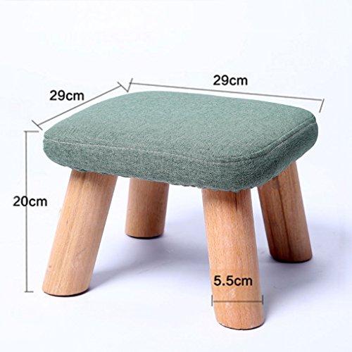 Kleine bank niedrigen hocker Quadrat hocker Massivholz erwachsenen Tuch Sofa hocker mode wohnzimmer Haushalt stuhl baby kind hocker 29 × 29 × 20 cm ( Farbe : #3 )