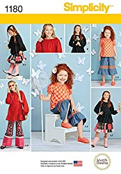 Simplicity Patterns US1180HH Child's and Girls' Tops, Pants and Skirt, HH (3-4-5-6)