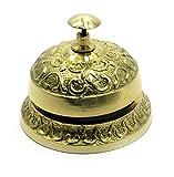 Zap Impex ® Schreibtischglocke antike Messingmetallschreibtischglocke, Anrufglocke, Büroglocke gut für Erscheinenstück