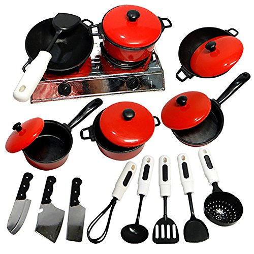Friended Kids Play Toy Kitchen Cooking Food Utensils Pans Pots Dishes Cookware Supplies