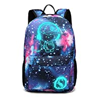 Kono School Backpack Durable 15.6 inch Laptop Rucksack,Waterproof College Anime Luminous Daypack Glow in the Dark