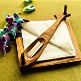 #7: Onlineshoppee Wooden Beautiful Design 2 Compartments Wooden Napkin Holder Size(7.5 x7.5 x3.1) Inch