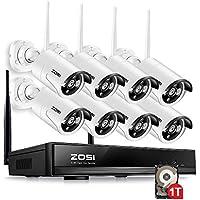 ZOSI 8CH 960P HD Funk Überwachungskamera System mit 1TB Festplatte Wireless HDMI NVR mit 8 Außen 960P WLAN Kamera Video Überwachungsset Indoor / Outdoor, 30M IR Nachtsicht, Fernzugriff, Bewegungserkennung