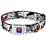 Buckle Down 22,9–38,1 cm Superman Comic Hund Halsband