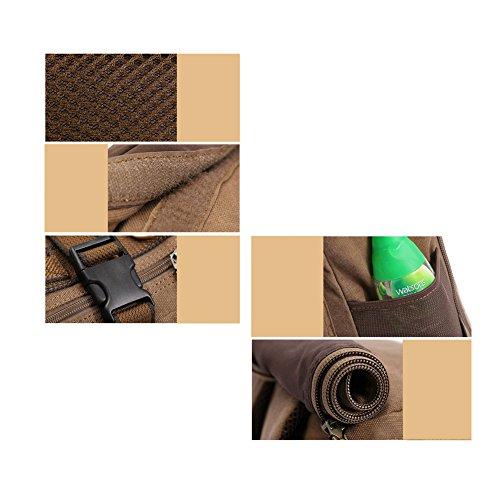 YAAGLE Herren Rucksack Laptoptasche multifunktional Reisetasche Schüler Schultasche Schultertasche Handtasche-khaki khaki