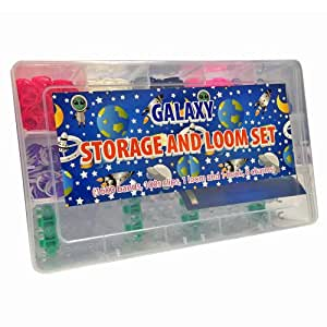 Galaxy Loom Storage and Loom Set Case (1600 Bands and 6 Charms Included)