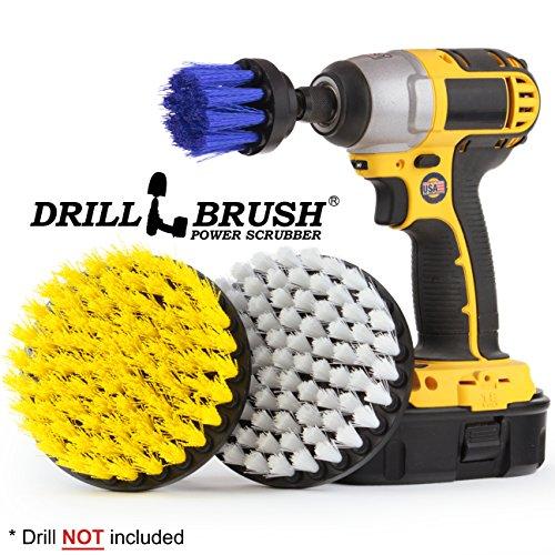 Drillbrush Befestigung Bootsreinigung Drill Zubehör Reinigungsbürste Kit gelb, weiß, blau