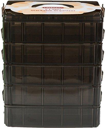 LifeSmart USA archiviazione impilabile Contenitore Nero - 50 Scomparti Regolabili - archiviare più di Tutti Gli Altri… 2 spesavip